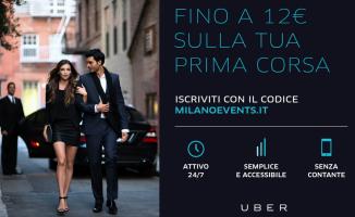 Iscriviti ad Uber inserendo il Promocode MILANOEVENTS.IT subito 12€ sulla tua prima corsa Uber Black