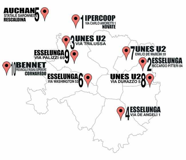 mappa supermercati meno cari milano