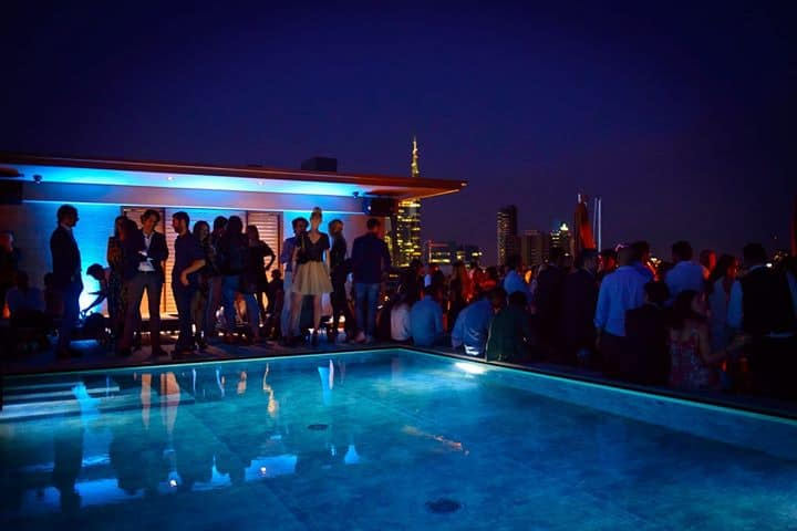 Hotel Viu Milan Rooftop Cocktail Party 8th Floor