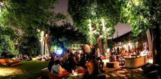 milan fashion week garden cocktail party
