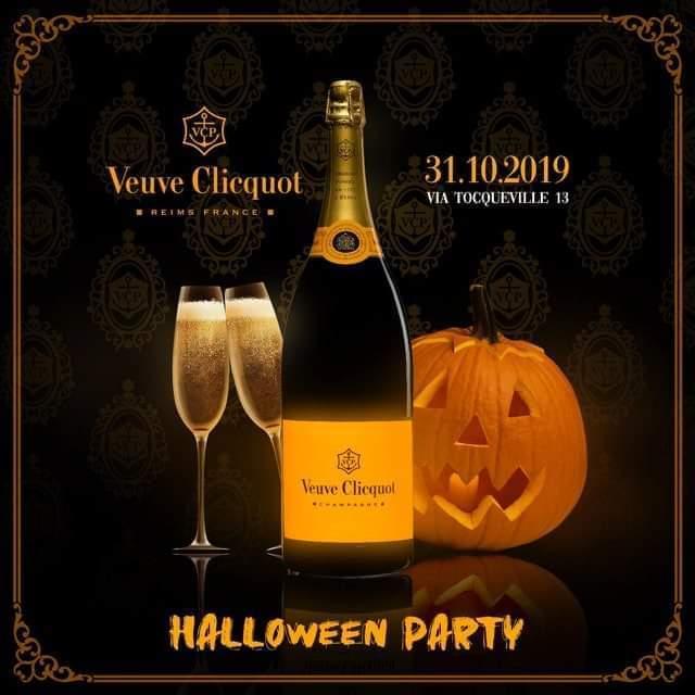 halloween veuve clicquot party