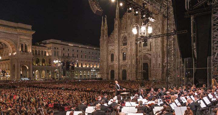 Featured image for 'Concerto Gratuito FILARMONICA della SCALA in Piazza Duomo'