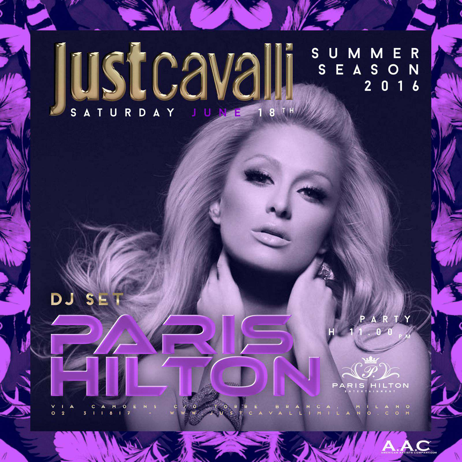 paris hilton just cavalli milano
