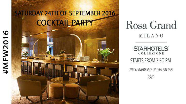 Featured image for 'Cocktail Party / Starhotels ROSA GRAND for MFW'