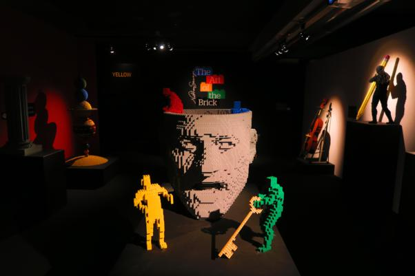 mostra the art of the brick