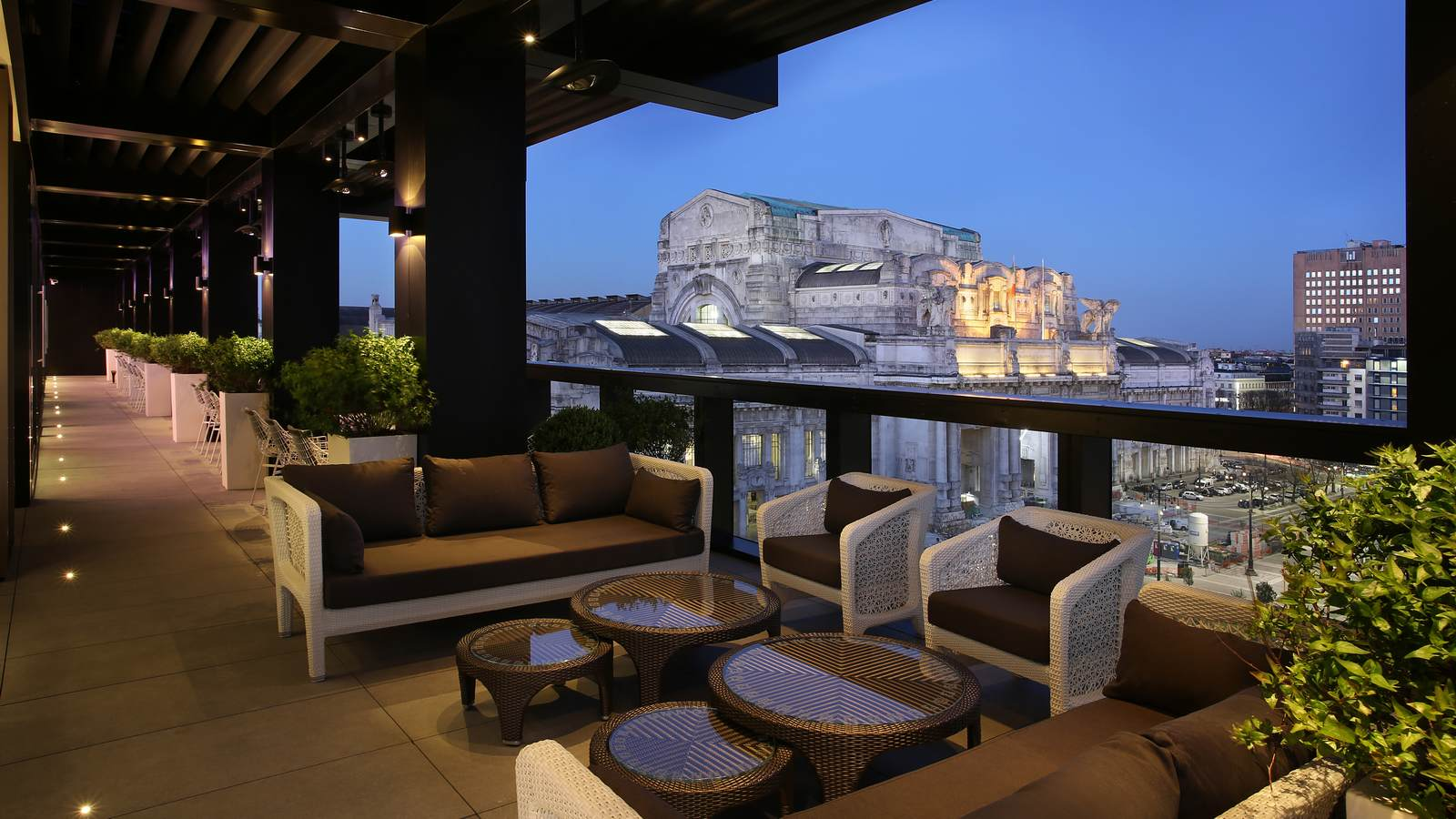 rooftop bars hotel gallia milano