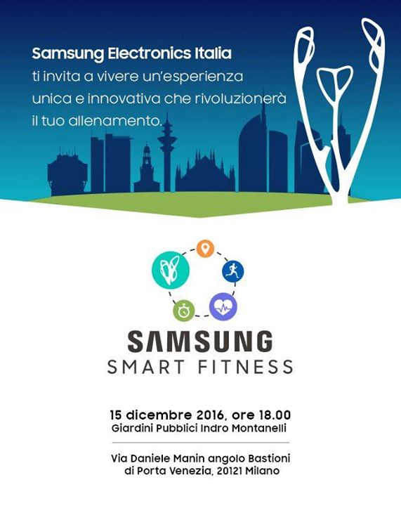 Featured image for 'Samsung Smart Fitness / Show di Luci & DJ SET su accredito'