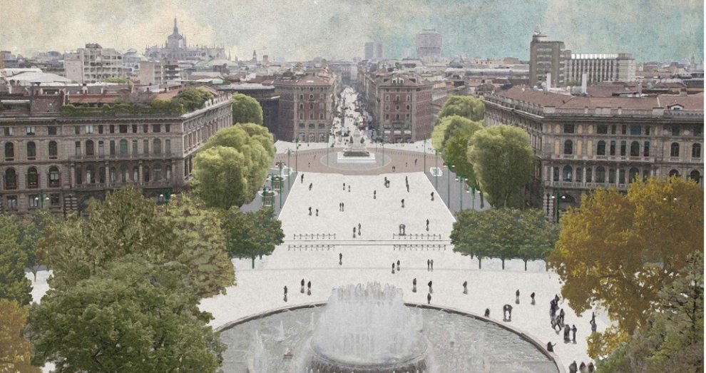 piazza castello restyling