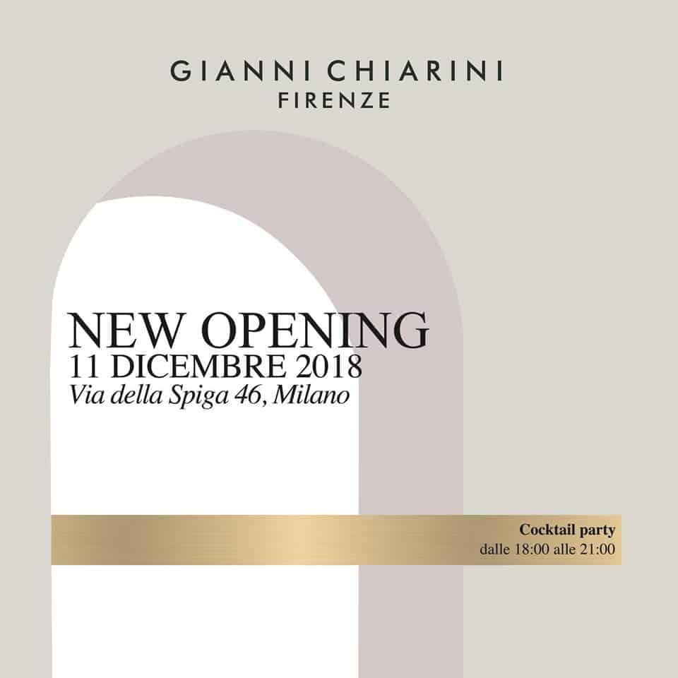 Gianni Chiarini NEW OPENING MILANO