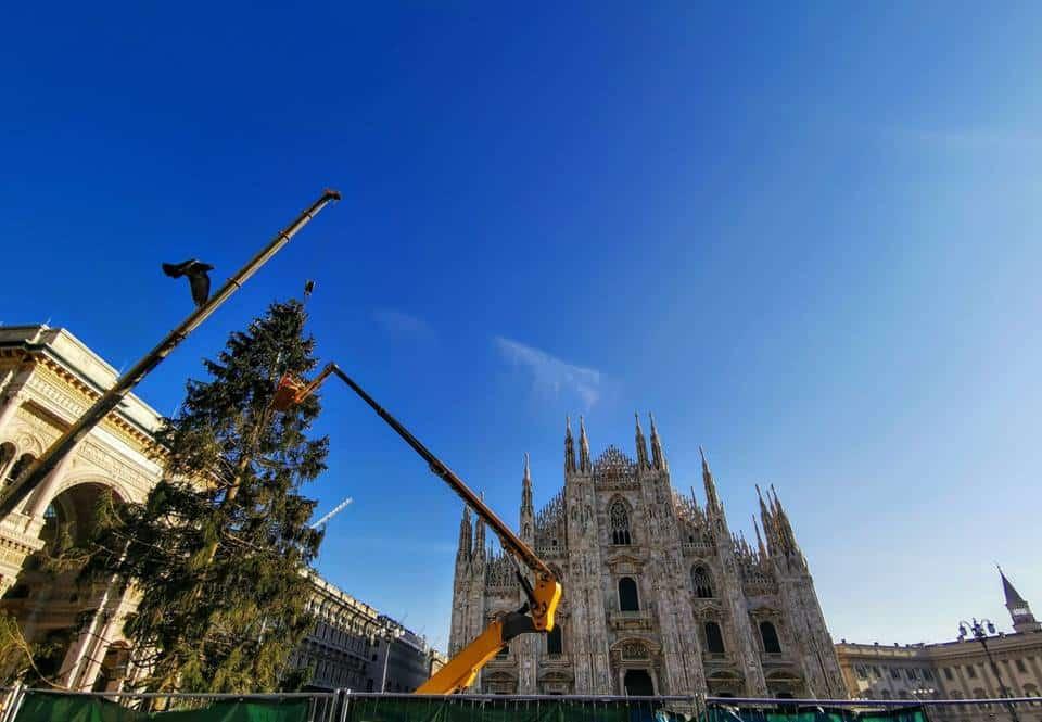 Albero Di Natale Milan.Piazza Duomo E Arrivato L Albero Di Natale Ecco Quando Si Accendera