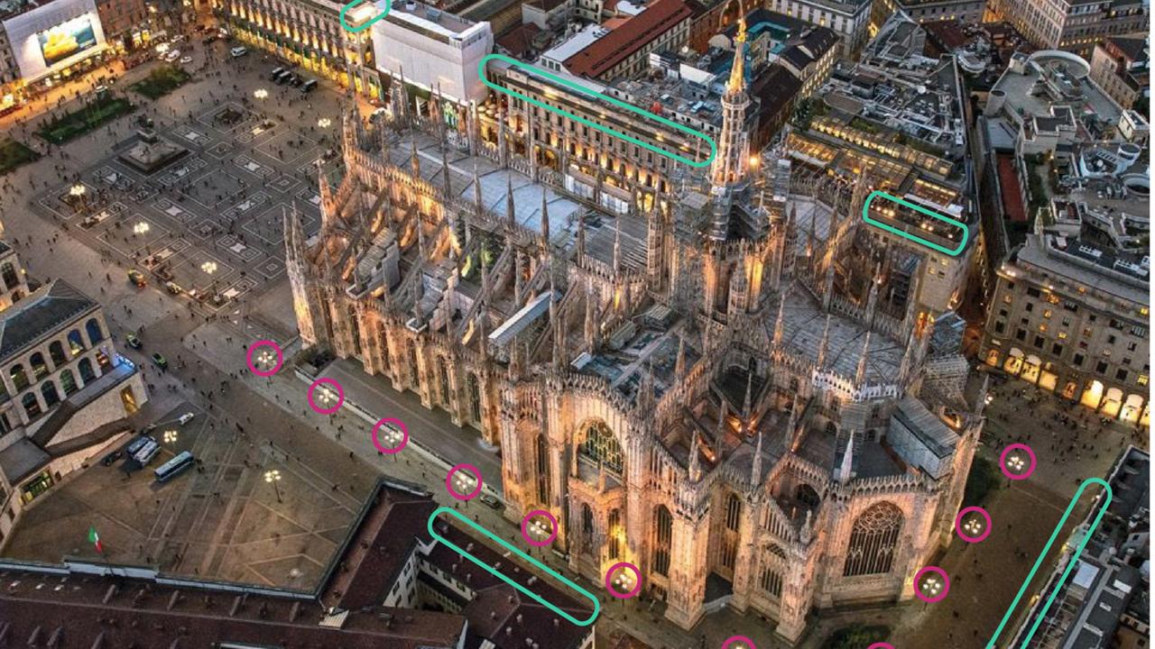Duomo di milano la cattedrale si accende con una nuova illuminazione