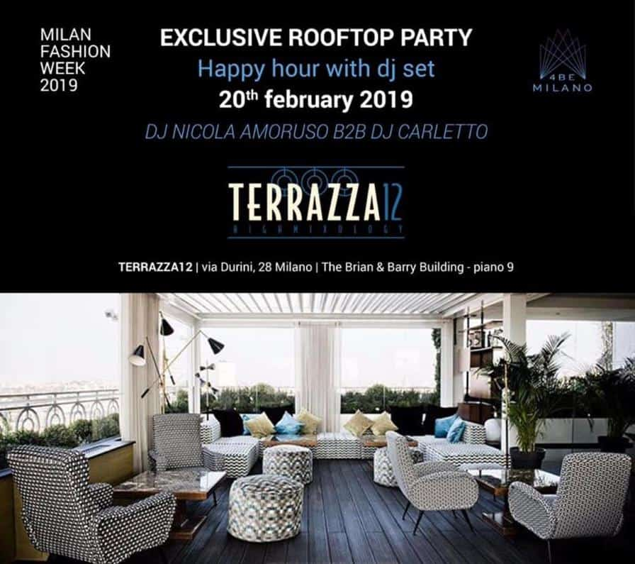 terrazza12 milano cocktail party