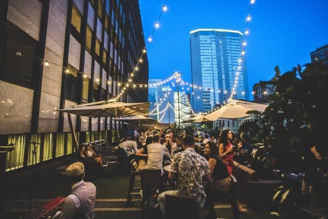 Hotel Hilton Milan terrace cocktail party