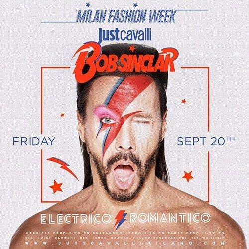 bob sinclar milano fashion week