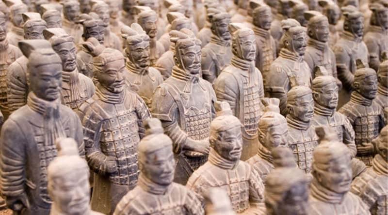 L'esercito di terracotta cinese alla Fabbrica del Vapore