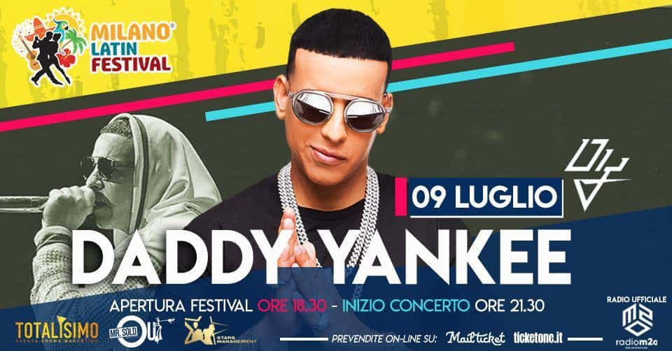 daddy yankee milano latin festival biglietti