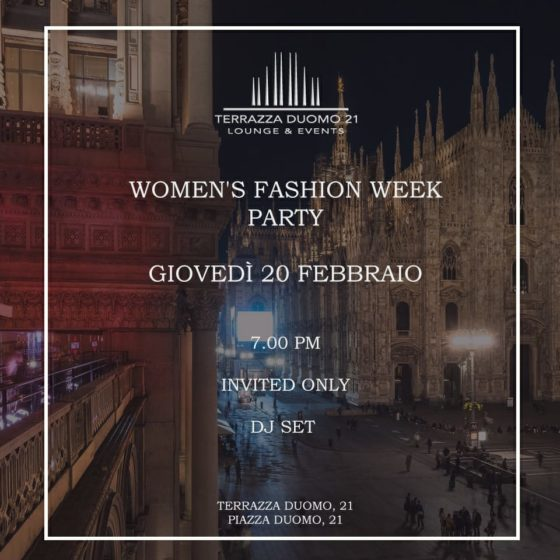 milano fashion week 2020 cocktail party