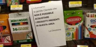 supermercati divieto di acquisto quaderni libri matite