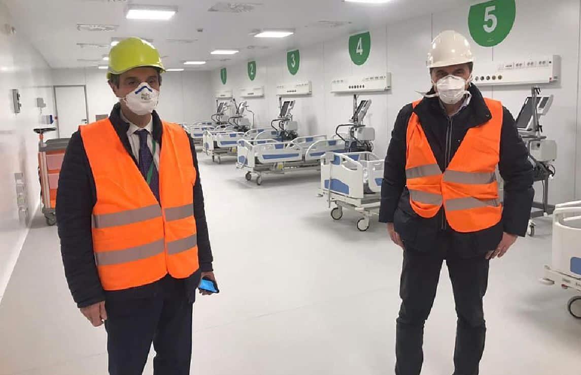 Pronto l'ospedale da campo Fiera Milano, costruito in 10 giorni