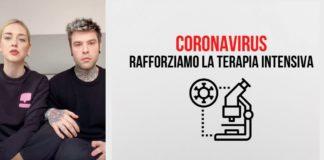 coronavirus ferragnez san raffaele donazione