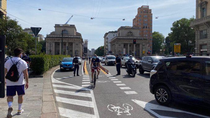 pista ciclabile corso buenos aires porta venezia