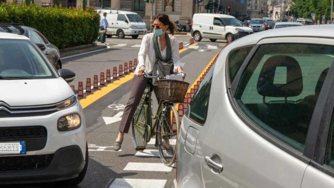 pista ciclabile porta venezia corso buenos aires
