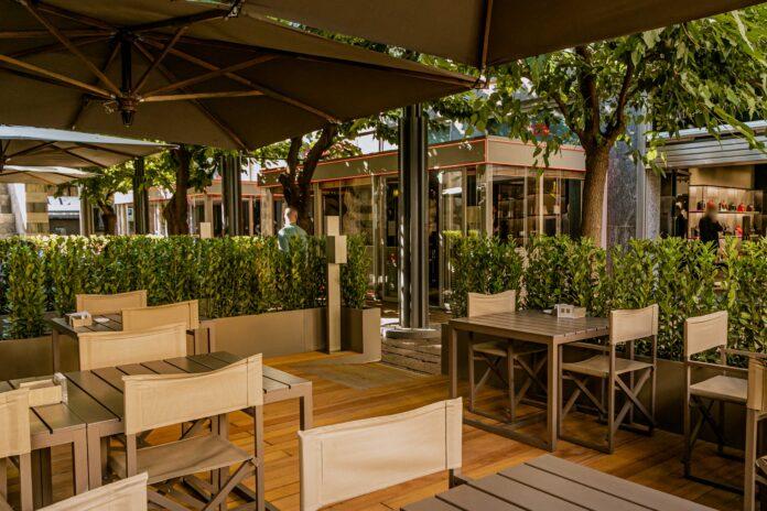 armani giardino giorgio armani emporio ristorante caffè