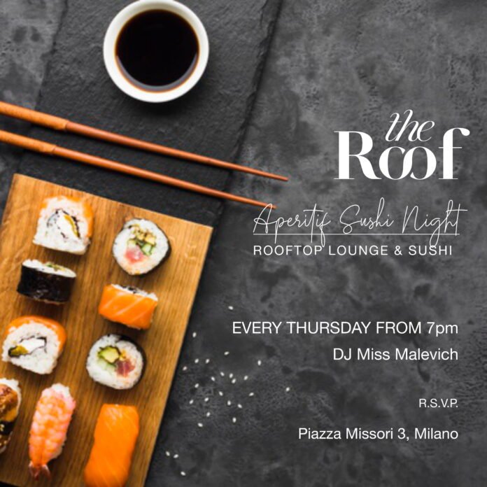 the roof sushi aperitivo