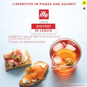 Piazza gae aulenti cocktail party illy