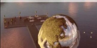 """""""IL MONDO TRA LE MANI"""": è la maxi opera progettata da Lorenzo Quinn che comparirà sul Lago d'Iseo"""