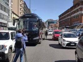 Protesta Bus Turistici milano