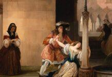hayez Luigi XIV e Mademoiselle de La Vallière